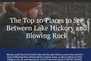 The Top 10 Places to See Between Lake Hickory and Blowing Rock [infographic]